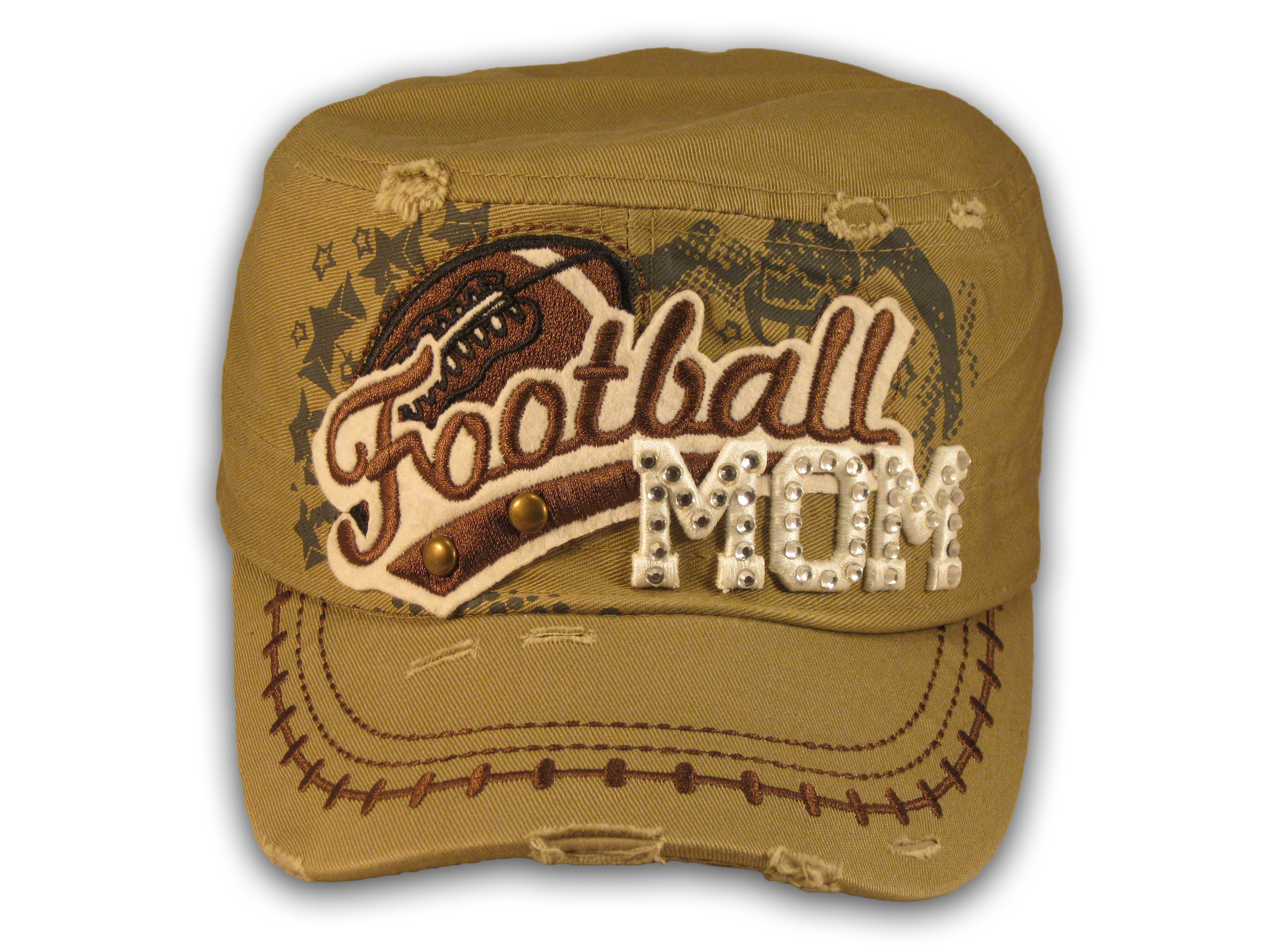 b0a09908171 Khaki Football Mom Cadet Hat - Printed T-Shirts