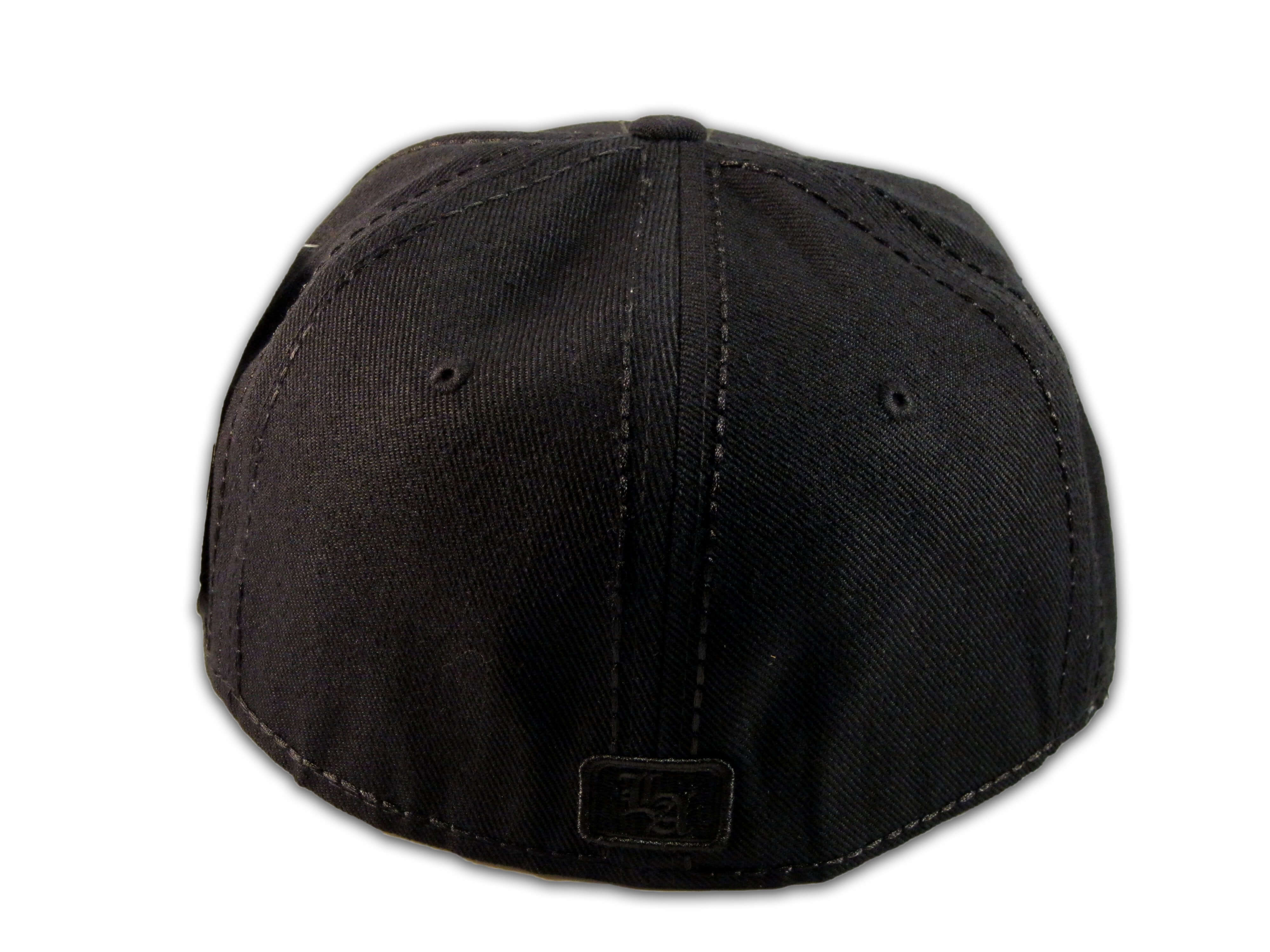 352fc92a44569 Los Angeles LA on Fitted Black Flat Brim Ball Cap Hip Hop Style Hat ...