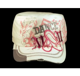Dance Mom White Cadet Castro Hat Military Army Cap