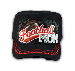 Football Mom Black Army Cadet Military Castro Style Army Hat