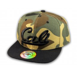 Camouflage California Republic Flat Bill Snapback Cap 3D Cali Hat