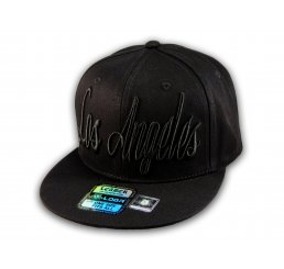 Black Los Angeles Baseball Hat Snapback Flat Bill