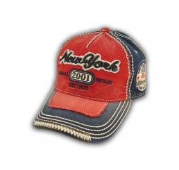 Red on Blue Vintage New York Baseball Cap
