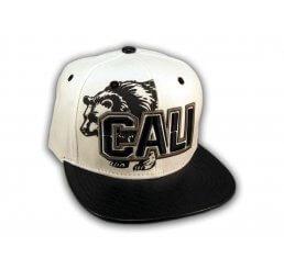 Black on White Cali Bear Snapback Hat