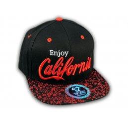 Red on Black Enjoy California Snapback Hat