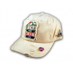 Stone Hike More Worry Less Washed and Distressed Baseball Cap