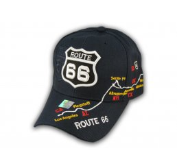 Navy Blue Route 66 Ball Cap