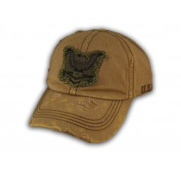 Brown USA Tactical Ops Vintage Baseball Cap