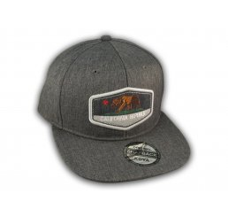 Charcoal California Republic Bear Snapback Hat