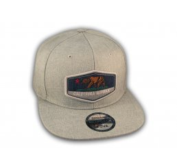 Gray California Republic Bear Snapback Hat
