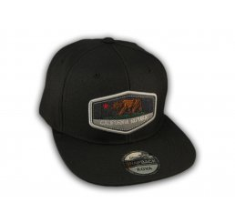 Black California Republic Bear Snapback Hat