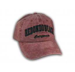 Burgundy Redondo Beach Washed Baseball Cap