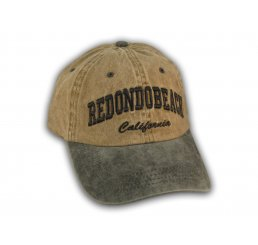 Brown and Black Redondo Beach Washed Baseball Cap