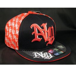 NY on Black and Red New York Flat Brim Hip Hop Style Hat