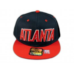 Atlanta Snapback Black Red Baseball Adjustable Hat Cap Flat Bill