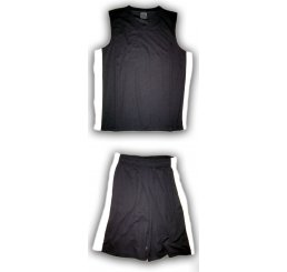 Black Basketball Jersey Outfit White Vented Sides with Pockets