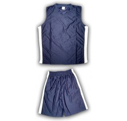 Blue Basketball Jersey Outfit White Vented Sides with Pockets