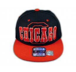 Chicago Snapback Black Red Baseball Adjustable Hat Cap Flat Bill