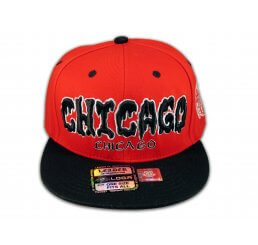 Chicago Snapback Red Black Baseball Adjustable Hat Cap Flat Bill