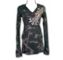 Thermal Hoodie Long Sleeve All Over Print and Jewel - X-Large
