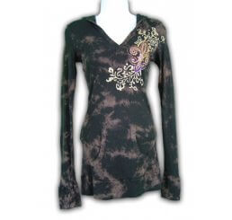 Thermal Hoodie Long Sleeve All Over Print and Jewel