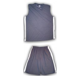 Gray Basketball Jersey Outfit White Vented Sides with Pockets
