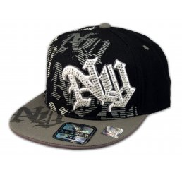 New York Black Gray Flat Brim Ball Cap Hip Hop Style Hat