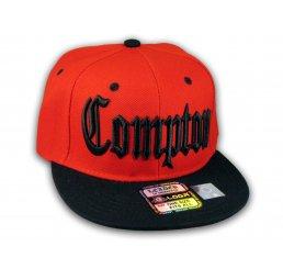 Compton Snapback Red Black Baseball Adjustable Hat Cap Flat Bill