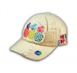 Stone Pineapple Washed and Distressed Baseball Cap