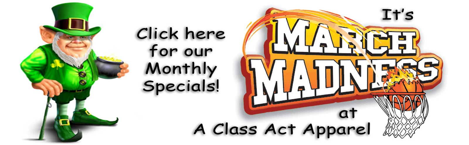 Click Here For Our Monthly Specials!